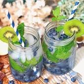 Detox-vatten blåbär