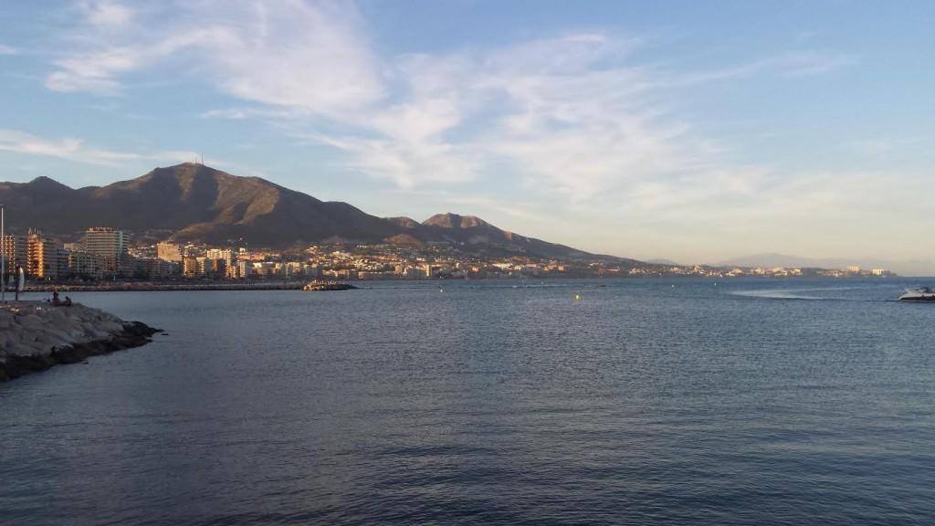 Utsikt från piren i Fuengirola